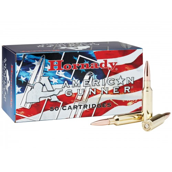 Hornady American Gunner Munitions 6.5 Creedmoor 140 gr BTHP x50