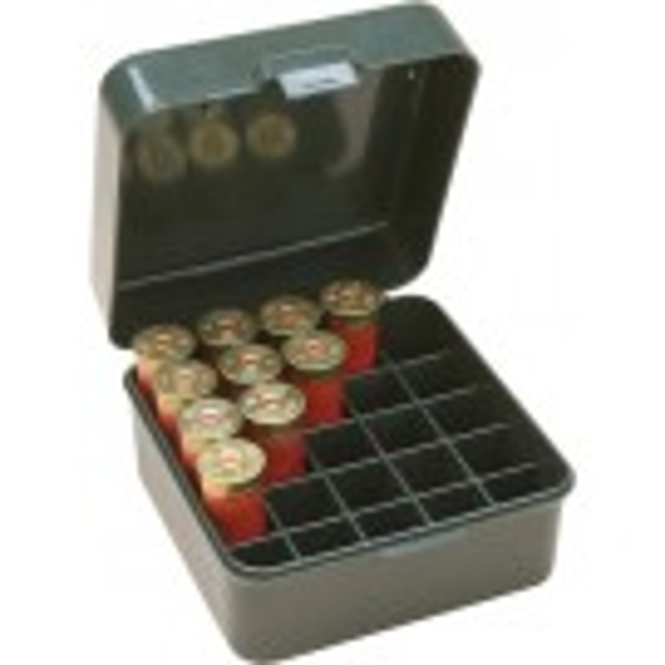 MTM S25d-11 Boite A Munitions Calibres 12/16/20 Jusqu'a 76mm 25 Munitions Vert