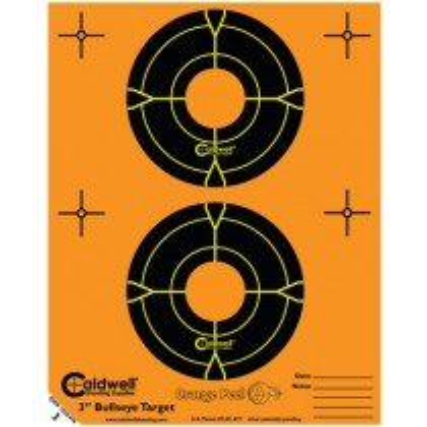 Caldwell Orange Peel Cible 7.5cm Autocollante Bullseye x15