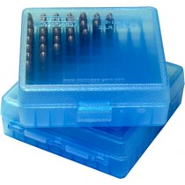 MTM P100-22-24 Boite à Munitions 22LR & 25 ACP Bleu Transparent